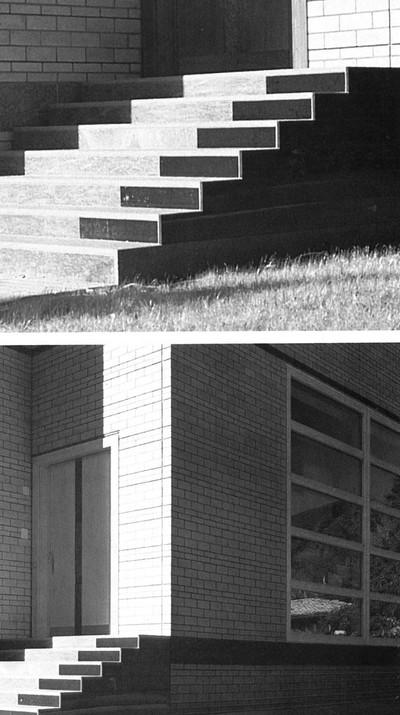 """Livio Vacchini est un architecte archaïque. Comme Mies il porte toute son attention aux questions éternelles de l'architecture, celles qui dépassent le programme. Il critique les Grecs, les Egyptiens et Sinan pour construire une histoire pratique de l'architecture qui dépasse le temps. C'est ainsi qu'il façonne son credo. Par une remise en cause permanente de sa propre façon de travailler. Sans jamais renier ce qu'il a fait avant, il tente sans cesse de reformuler les questions. Car quand la question sera bien posée, la réponse ne sera plus très loin. Le projet construit doit être lu comme le document le plus complet de son travail à un moment donné, comme une expression parmi d'autres (dessin, texte) du credo : le projet exprime quelque chose. La maison nous dit qu'elle est là, qu'elle est orientée donc qu'elle est un bâtiment privé, qu'elle offre un espace de qualité aux gens qui l'habitent sans être à leur service, qu'elle arrive à transformer leurs nécessités d'ordre pratique en valeurs spirituelles, qu'elle est une unité.  Texte: Simon Campedel, (link: https://www.academia.edu/41804570/Penser_linutile text: """"Penser l'inutile""""), extrait de Cosa Mentale n°0, (link: https://cosamentale.com text: Editions Cosa Mentale), Paris, 2009  Image: Christian Norberg-Schulz & Jean-Claude Vigato, """"Livio Vacchini"""", Editorial Gustavo Gili, Barcelone, 1987 - © FP01"""